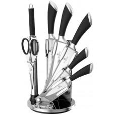 Набор ножей на подставке Berlinger Haus ВН-ST8B Perfect Kitchen Line 8пр.