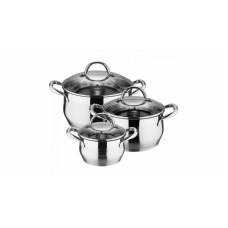 Набор посуды Bergner BG-6373L 6 пр (нжс)