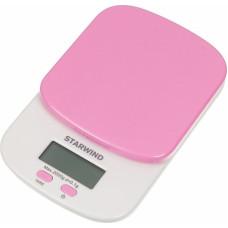 Весы кухонные STARWIND SSK 2158 розовый, электронные