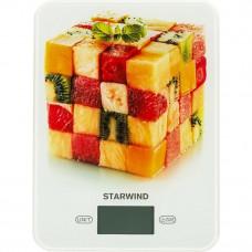 Весы кухонные STARWIND SSK 3359 красный рисунок, электронные
