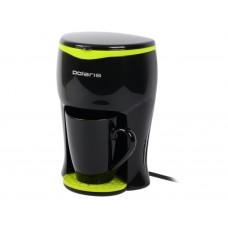 Кофеварка капельная POLARIS PCM0109 (2018) черный/желтый
