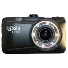 DVR Dixon F660, 1920x1080/30 fps, Lens 6G glass, 170°, WDR, 4x Zoom, MOV/MP4 (H.264), LCD 3.0, G-sensor, Mic HR, HDMI in, USB, microSD (до 32GB). корпус металл. Novatek 96650 + Sensor OV0330