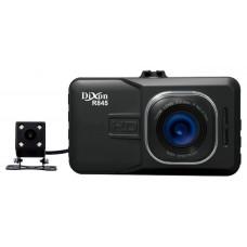 DVR Dixon R845, 2 камеры: 1920x1080/25 fps/140°, задняя 720x480/25 fps/110°, AVI (H.264), LCD 3.0, ИК-подсветка + фильтр НС, помощь парковки, G-sensor, USB, HDMI, SD (до 32GB), акб 500мАч