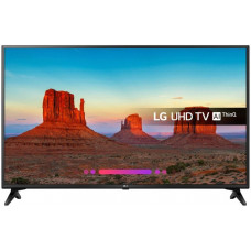 60 LG 60UK6200  3840x2160, чёрный, Ultra HD, 50 Гц, Wi-Fi, Smart TV, DVB-T2, DVB-T, DVB-C, DVB-S2, USB, HDMI, мощность звука 20 Вт, двойные