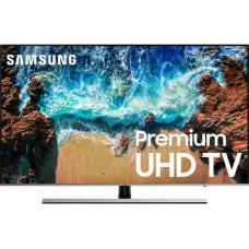 75 SAMSUNG 75NU8000 3840x2160, серебристый, Ultra HD, 1000 Гц, WI-FI, SMART TV, пульт Smart Control, AV, HDMI, USB, DVB-C, DVB-T2, DVB-S2