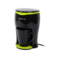 Кофеварка капельная POLARIS PCM0210 (2017) черный/желтый