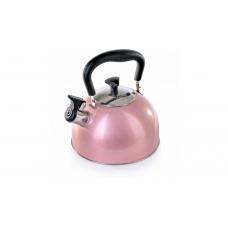 Чайник со свистком Greys KS-433 (2,5 л.розовый)
