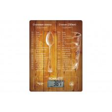 Весы кухонные Scarlett SC-KS57P19 (8 кг) мерная таблица