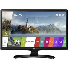 24 LG 24MT49S 1366x768 чёрный, 50 Гц, Wi-Fi, Smart TV, DVB-T2, DVB-C, DVB-S2, USB, HDMI