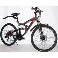 Велосипед Pioneer Safari T 17х26 grey/black/red