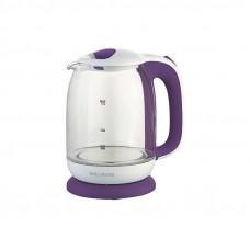 Чайник Willmark WEK-1704G белый-фиолетовый (1,7л,стекло,подсветка)