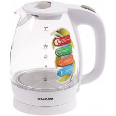 Чайник Willmark WEK-1705GW белый (1,7л,стекло,подсветка)
