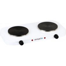 Плитка электрическая AMPIX AMP-8008 (2 конф.чугун,1кВт+1кВт)