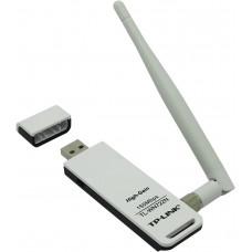 TP-LINK TL-WN722N, Wi-Fi USB Адаптер, 150Mbps High Gain (высокого усиления), with Cradle, Atheros, 1T1R, 2.4GHz, 802.11n/g/b, 1 detachable antenna