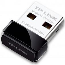 TP-LINK TL-WN725N, Wi-Fi USB Адаптер, 150Mbps, Nano Size, Realtek, 2.4GHz, 802.11n/g/b, QSS button, autorun utility