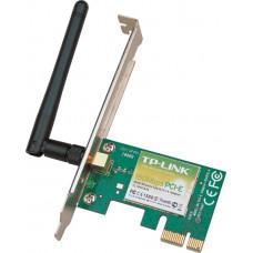 TP-LINK TL-WN781ND, Wi-Fi PCI-E Адаптер, 150Mbps, Atheros, 1T1R, 2.4GHz, 802.11n/g/b, 1 detachable antenna