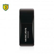 MERCUSYS MW300UM, Wi-Fi USB Адаптер, 300Mbps High Gain (высокого усиления), Realtek, 2.4Ghz, 802.11b/g/n