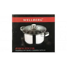 Кастрюля с крышкой Wellberg WB-1213 (нжс)
