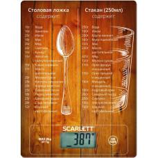 Весы кухонные SCARLETT SC-KS57P19 коричневый, электронные