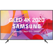 75 Телевизор SAMSUNG 75Q60TA черный 3840x2160, Ultra HD, QLED-телевизор, 100 Гц, WI-FI, SMART TV, AV, HDMI, USB, DVB-C, DVB, пульт Smart Control