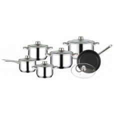 Набор посуды Mercury MC-6009 (2) 12 предметов 4,9/2,8/1,9/1,3/1,9/1,9 л