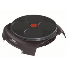 Блинница TEFAL PY303633 черный, антипригарное покрытие, 12см, 4 блина