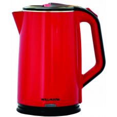 Чайник WILLMARK WEK-2012PS (2 литр.2-е стенки,красный)