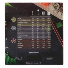 Весы кухонные электронные STARWIND SSK3377 макс.вес:5кг рисунок
