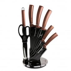 Набор ножей на подставке Berlinger Haus BH-2561 Rosegold Line  8 пр/золото