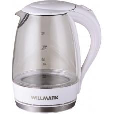 Чайник Willmark WEK-1708G (1,7 л,стекло,белый,подсветка)