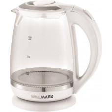 Чайник Willmark WEK-2005G  (2 л.стекло.белый.LED подсветка)