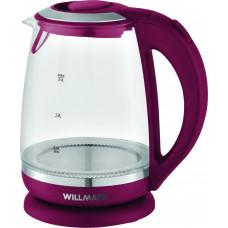 Чайник Willmark WEK-2005G (2 л.стекло.бордовый.LED подсветка)