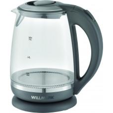 Чайник Willmark WEK-2005G  (2 л.стекло.серый.LED подсветка)