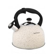 Чайник со свистком Hoffmann НМ 55126-2  3,0л коричневый