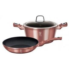Набор посуды Berlinger Haus BH-6042 I-Rose 3пр./Золотистый
