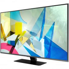 75 Телевизор SAMSUNG 75Q80TA серый 3840x2160, Ultra HD, QLED-телевизор, 100 Гц, WI-FI, SMART TV, AV, HDMI, USB, DVB-C, DVB-T2, пульт Smart Cont