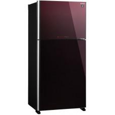 Холодильник SHARP SJ-XG60PGRD черный/красный (FNF, стекло)