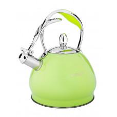 Чайник со свистком Hoffmann НМ 55132 3,0л зел./салатовый