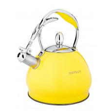 Чайник со свистком Hoffmann НМ 55133 3,0л жёлтый