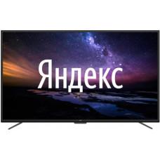 75 Телевизор Leff 75U520S черный 3840x2160, Ultra HD, 50 Гц, WIFI, SMART TV, DVB-T, DVB-T2, DVB-C, USB, HDMI Яндекс OS